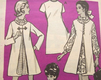 Mail Order 9445 Coat and Sheath Dress Vintage Sewing Pattern Bust 39