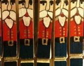 Nutcracker clothes pin ornaments set of 5