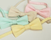 Florent - Cotton Bow Tie (Yellow Bow Tie, Blue Bow Tie, Pink Bow Tie, Black Bow Tie, Navy Blue Tie, Purple Bow Tie...)