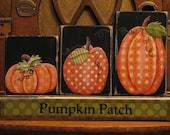 Pumpkin Patch Blocks Fall and Thanksgiving Decor Sign