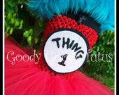 SILLY LITTLE THING Dr. Seuss Inspired Thing 1 or 2 Tutu Costume - Medium 2/3t
