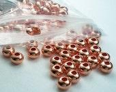 4.8mm Genuine Copper Rondelle Beads 144 pcs. GC-186