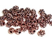 5mm Barrel Bali-style Genuine Copper Spacer Bead 25 pcs. GC129