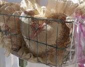 Vintage Storage BAsket. Industrial Locker Basket. Teal Aqua Rusty. Chippy. Cottage Chic Decor