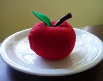 Apple - Felt Play Food