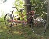 Rare Retro Antique Tandem Bicycle Schwinn or Roland Messenger