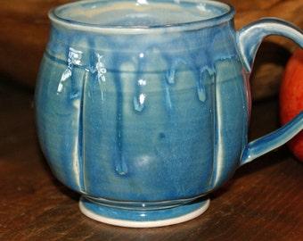 Ceramic Mug / Porcelain Mug / Blues