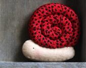 Poppy The Snail Brooch