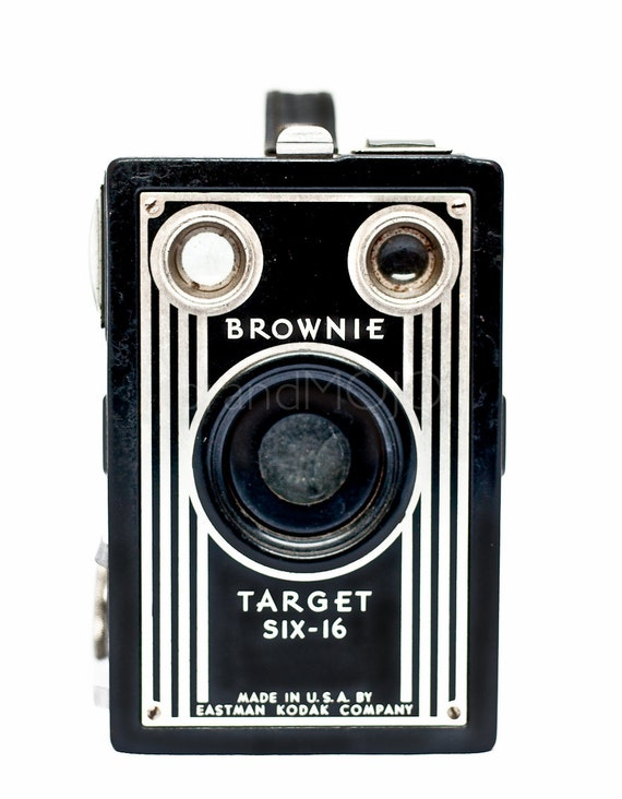 Retro camera image art fine art photo - art deco 616 film 1940s mid century lover collector Kodak Target Six 16 - vintage decor