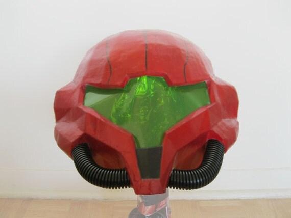 Metroid Samus Aran Wearable Helmet Prop / Cosplay
