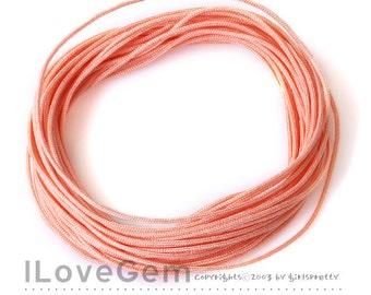 Korea Knotting Cord, Peach, 0.9mm, 10 meters