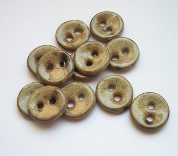 Cafe Latte Ceramic Buttons
