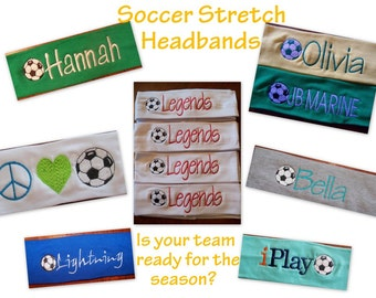 Soccer Team Stretch Headbands