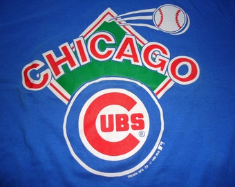 vintage tshirt CHICAGO CUBS XL 1988 bases loaded home run