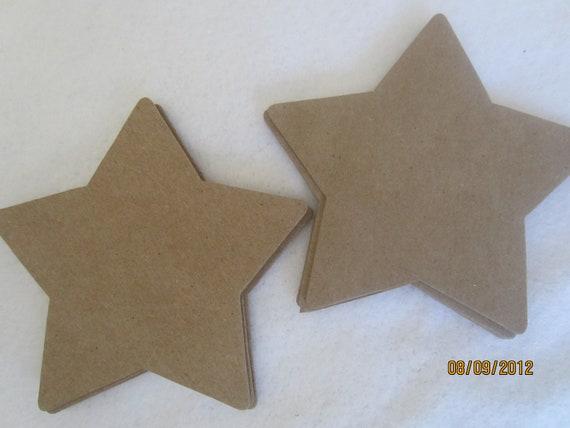 Items similar to diy large star chipboard shape blank