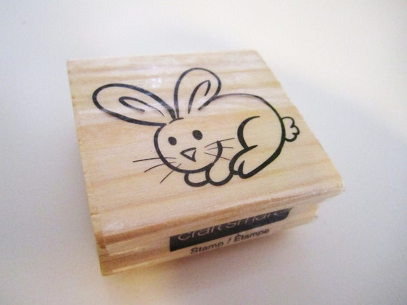 Spring Easter Bunny NEW Wood Block  Rubber Stamp