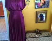 Disco Diva- Vintage 1970s Dress- XS/S