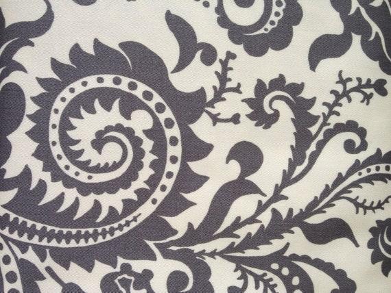 Designer Fabric - Amy Butler Nigella Collection, Home Decor Weight, Wood Fern in Ecru - 1 yard