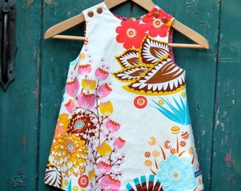 PRINTED PATTERN: Ruby Ruffle Dress - Original Printed Sewing Pattern - Size 6 Month through 10 Years