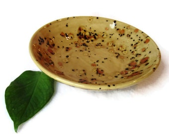 Small Serving Bowl in Earth Tones of Brown and Rust