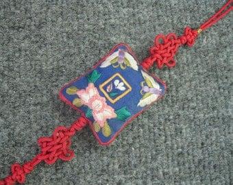 Vintage Hand Embroidery Silk Knot Tassel
