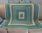 Tranquil Waves Crocheted Throw Blanket