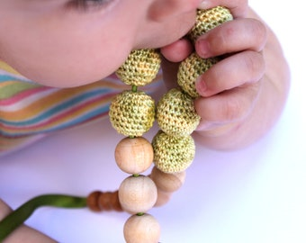 Crochet Nursing Teething Necklace