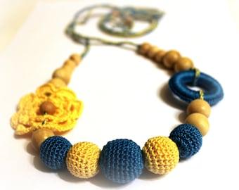 Nursing Jewelry Crochet Nursing Teething Necklace Crochet Accessory