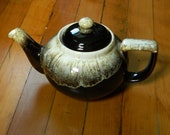 Vintage Pfaltzgraff Brown Drip Pattern Teapot Made in the USA