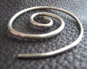 Large  Spiral Shawl Pin Shawl Screw in Fine Silver