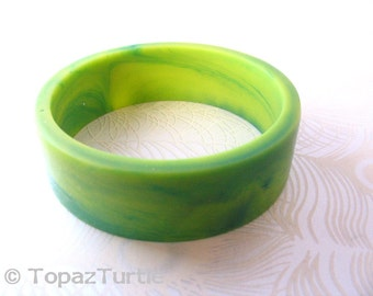 Green , handmade , resin bangle bracelet,  jewelry, lime, blue green, yellow, broad bracelet , bangle resin , womans jewellery bracelet