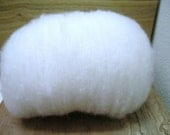Clean wool carded batt - 1 ounce - Corriedale wool and Samoyed dog brushings in 70/30 blend
