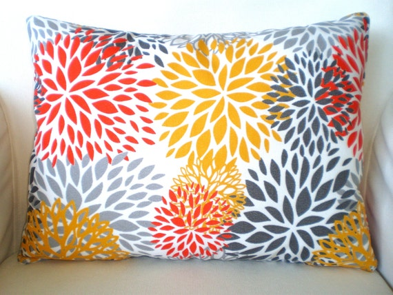 OUTDOOR Pillow Covers Throw Pillow Cushion Cover Lumbar Orange