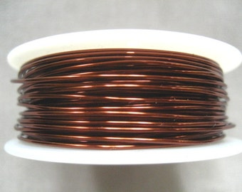 12 ft -- 24 gauge Wire Wrapping Viking Knit Crochet Brown Wire