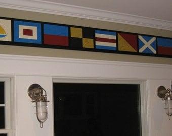 7  Nautical Signal Flag Signs---Home -Weddings--Birthdays---Room Decor