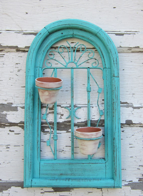 Wall Planter - Garden - Shabby and chic - Paris Chic- Cottage Home Decor