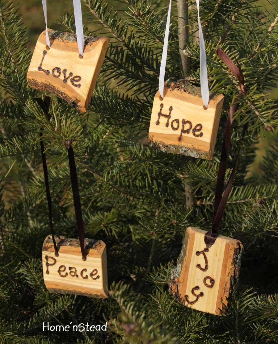 Country Christmas Ornament Craft Ideas