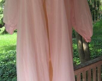 Sale Sale Vintage1960's 1970's NWOT Bridal Wedding Pink Sheer Peignoir Robe  Way Chic N Sexy