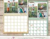 12x18 Dry Erase Calendar Template - 3 Photos Top