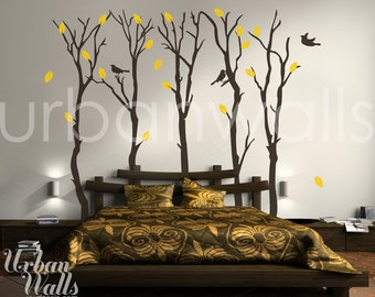 Vinyl Wall Sticker Decal Art - Fall Trees
