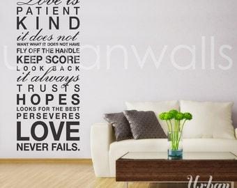 Vinyl Wall Decal Sticker Art, Love is...