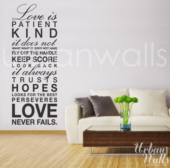 Vinyl Wall Decal Sticker Art, Love is...