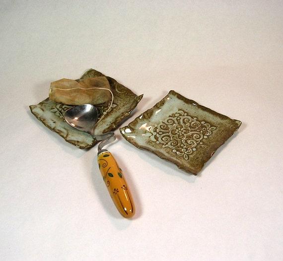 Tea bag holder spoon rests set of 2