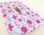 Washi Tape Switch Plate (Pink flowers) Free Shipping