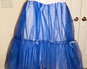 Something Blue (Pink, Black, or ...) Crinoline Petticoat for Ballgowns - Blue, Teal, Royal, Pink, Hot Pink, Purple, Black, White