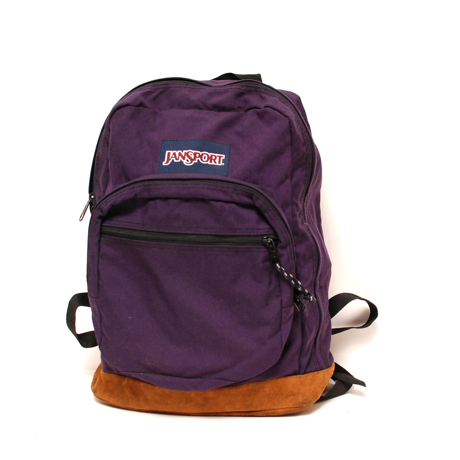 LEATHER JANSPORT purple canvas BACKPACK by CairoVintage on ...