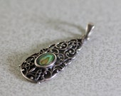 Ornate Sterling Silver & Abalone Pendant