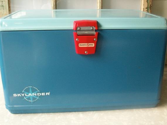 Vintage Hamilton Skotch Two Tone Blue Ice Chest Cooler