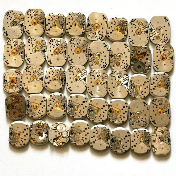 Watch Movement Lot - Set of 40 Mechanism Movements - from Russia / Soviet Union / USSR