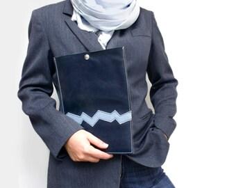 iPad leather case dark blue iPad Sleeve iPad Cover iPad Pouch